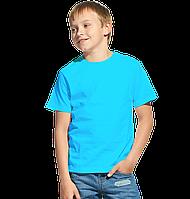 Облегченная детская футболка, StanClass, 06U, Бирюзовый (32), 10 лет