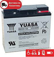Аккумулятор Yuasa REC22-12 для инвалидных колясок, электрокаров, аварийного освещения