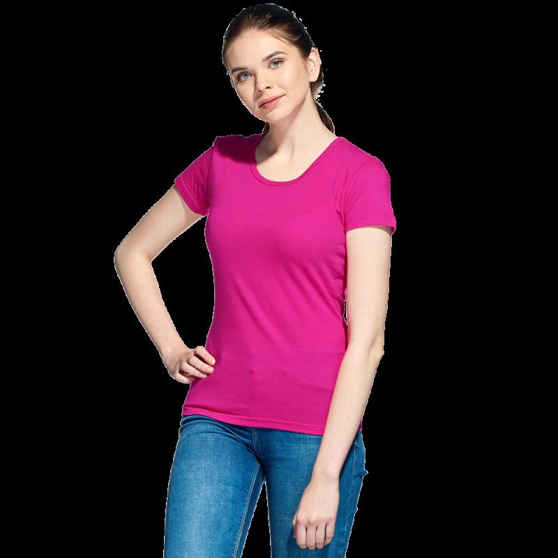 Женская футболка, StanGalantWomen, 02W, Ярко-розовый (92), M/46