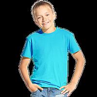 Классическая детская футболка, StanKids, 06, Бирюзовый (32), 10 лет