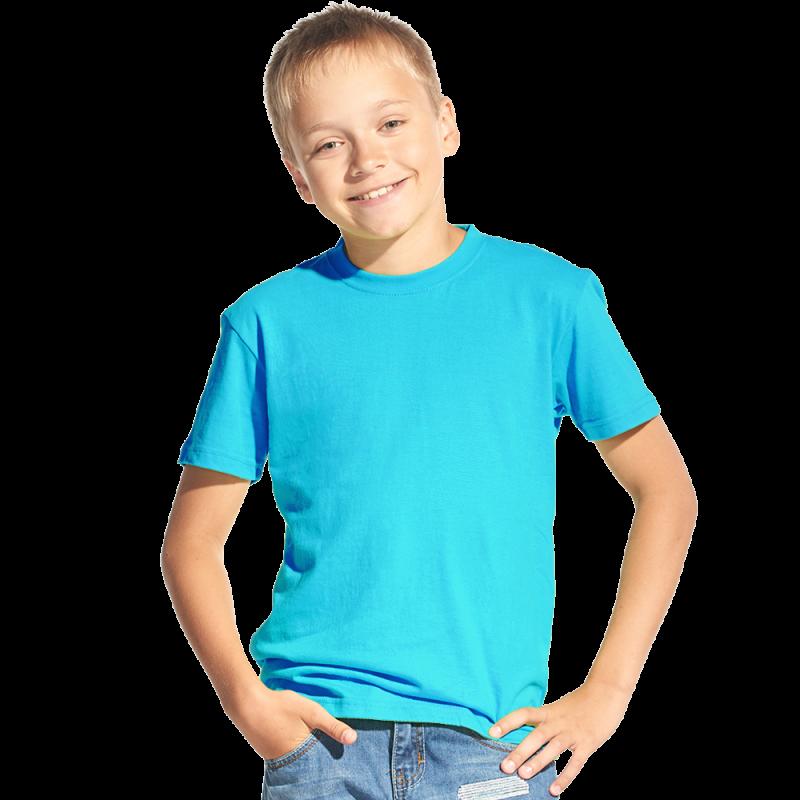 Классическая детская футболка, StanKids, 06, Бирюзовый (32), 8 лет