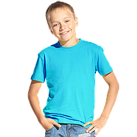 Классическая детская футболка, StanKids, 06, Бирюзовый (32), 14 лет