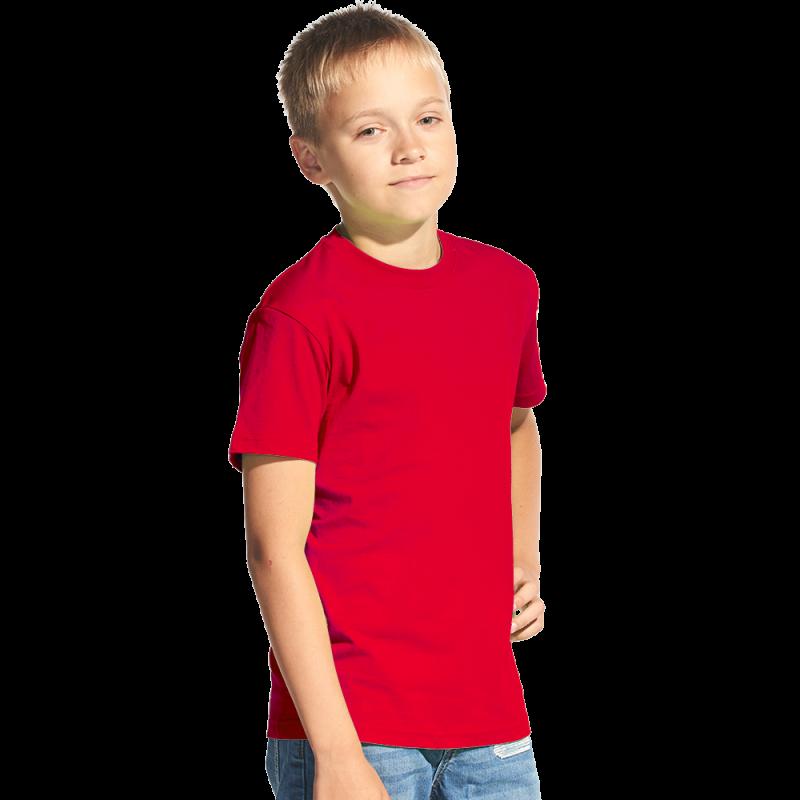 Классическая детская футболка, StanKids, 06, Красный (14), 10 лет