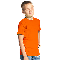 Классическая детская футболка, StanKids, 06, Оранжевый (28), 6 лет