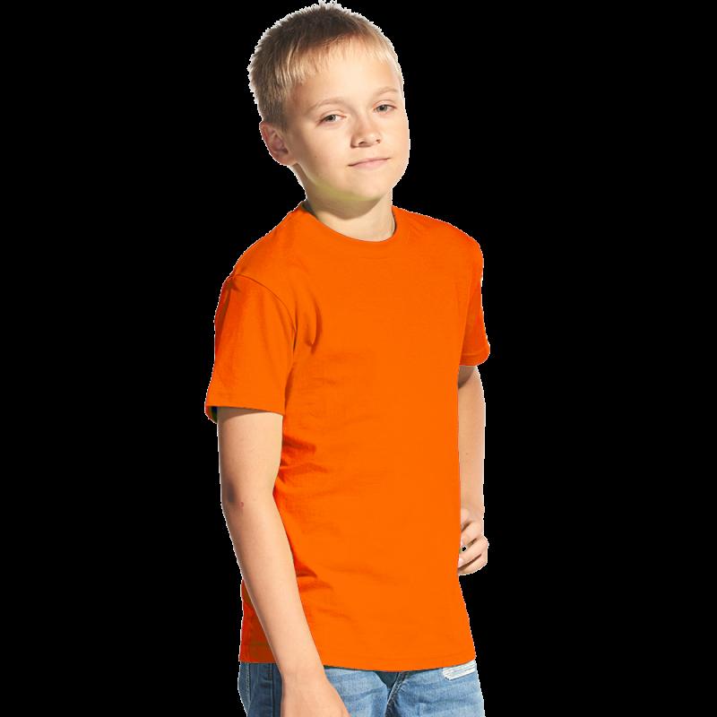 Классическая детская футболка, StanKids, 06, Оранжевый (28), 12 лет
