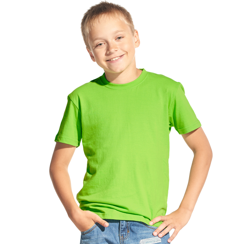 Классическая детская футболка, StanKids, 06, Ярко-зелёный (26), 10 лет