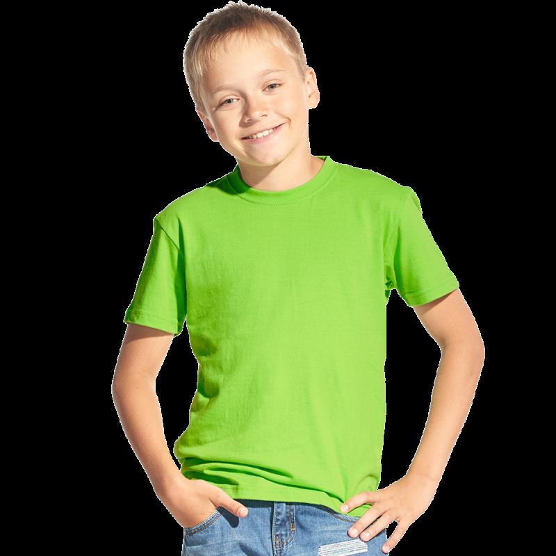 Классическая детская футболка, StanKids, 06, Ярко-зелёный (26), 14 лет