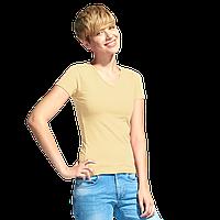 Женская футболка-стрейч с V-воротом, StanVictoryWomen, 07W, Бежевый (54), XS/42