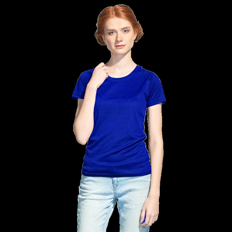 Женская спортивная футболка, StanPrintWomen, 30W, Синий (16), XS/42