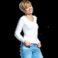 Женская футболка с длинным рукавом, StanFashion, 32, Белый (10), XL/50