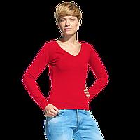 Женская футболка с длинным рукавом, StanFashion, 32, Красный (14), XXL/52