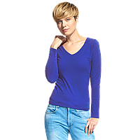 Женская футболка с длинным рукавом, StanFashion, 32, Синий (16), M/46