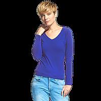 Женская футболка с длинным рукавом, StanFashion, 32, Синий (16), XS/42