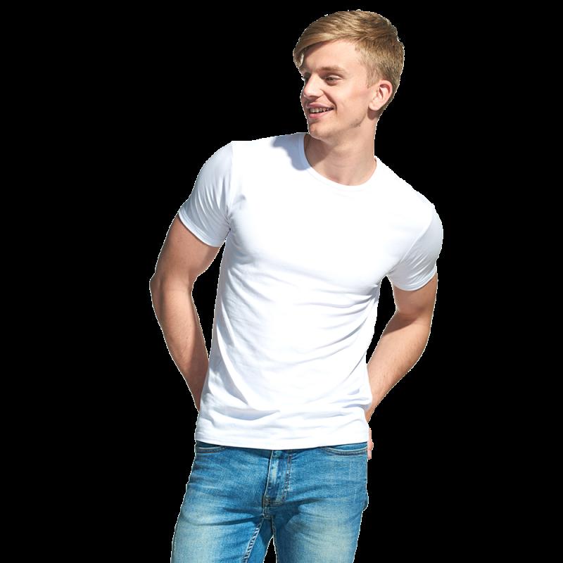 Мужская футболка-стрейч, StanSlim, 37, Белый (10), XL/52