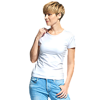 Женская футболка-стрейч, StanSlimWomen, 37W, Белый (10), S/44