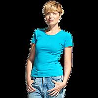 Женская футболка-стрейч, StanSlimWomen, 37W, Бирюзовый (32), S/44