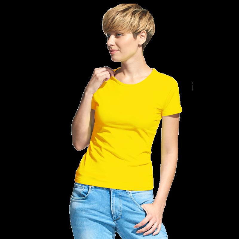 Женская футболка-стрейч, StanSlimWomen, 37W, Жёлтый (12), XL/50