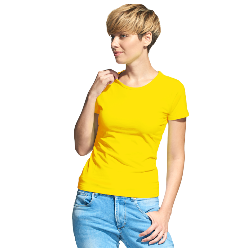 Женская футболка-стрейч, StanSlimWomen, 37W, Жёлтый (12), XS/42