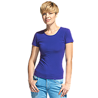 Женская футболка-стрейч, StanSlimWomen, 37W, Синий (16), M/46