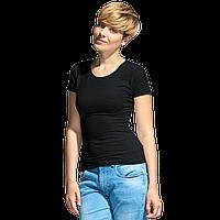 Женская футболка-стрейч, StanSlimWomen, 37W, Чёрный (20), M/46