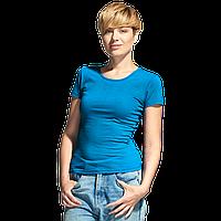 Женская футболка-стрейч, StanSlimWomen, 37W, Лазурный (40), L/48