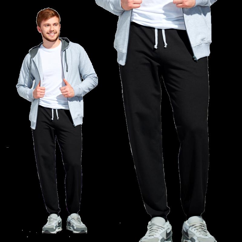 Мужские спортивные брюки, StanJump, 62, Чёрный (20), XXL/54