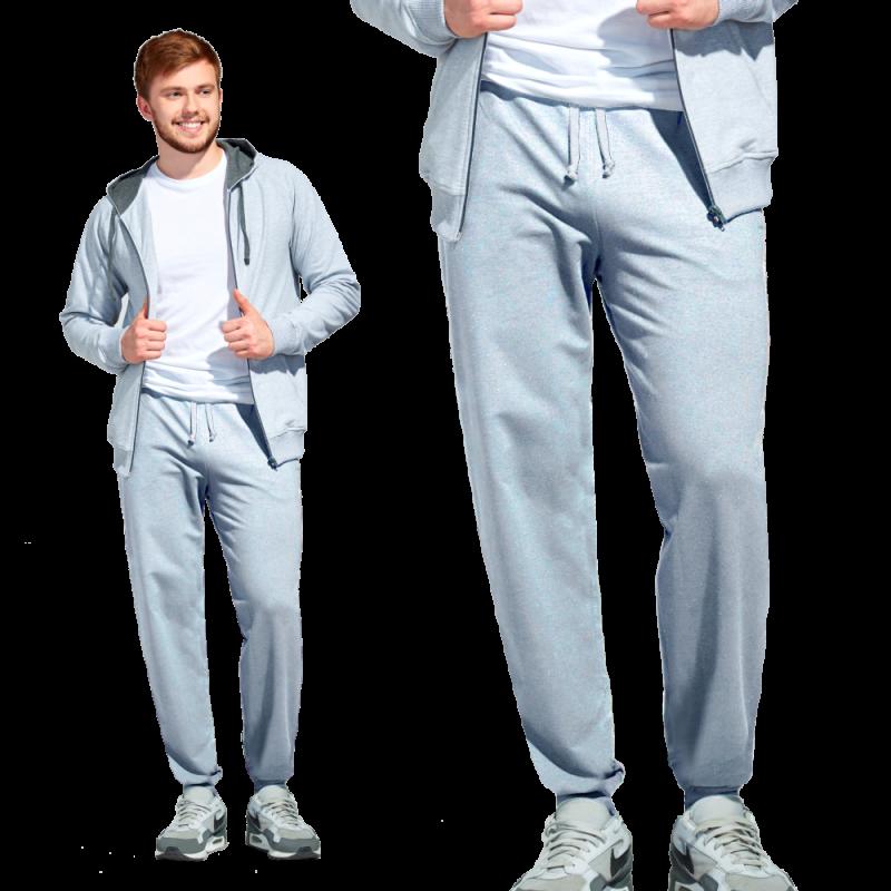 Мужские спортивные брюки, StanJump, 62, Серый меланж (50), XXL/54