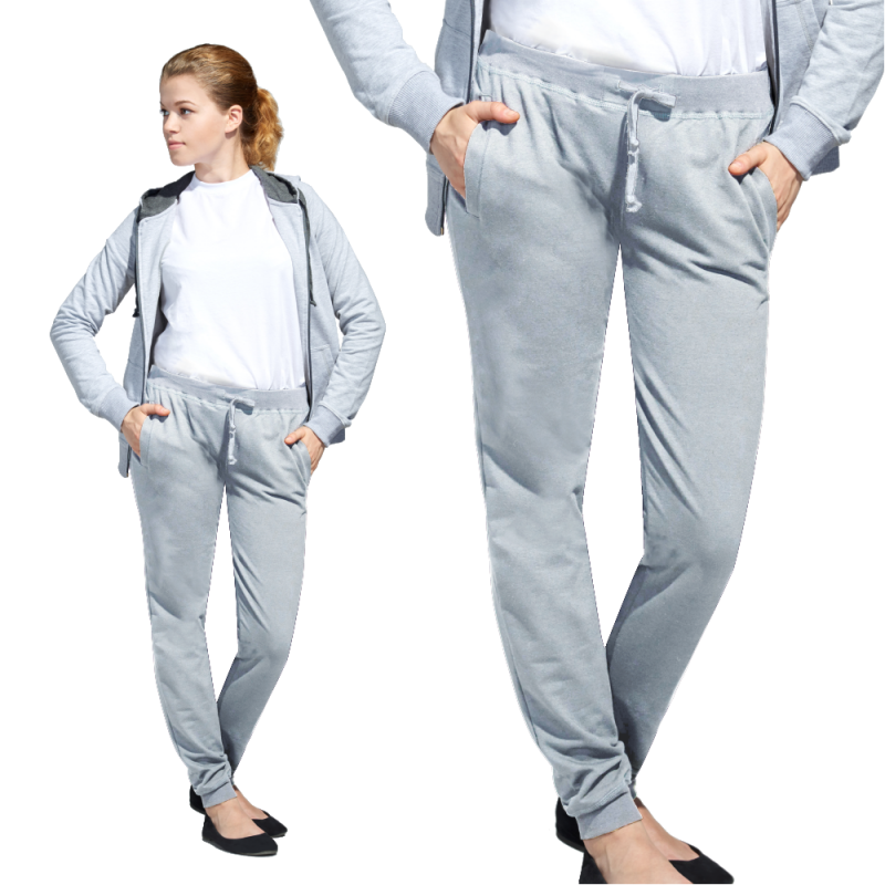 Женские спортивные брюки, StanJumpWomen, 62W, Серый меланж (50), L/48