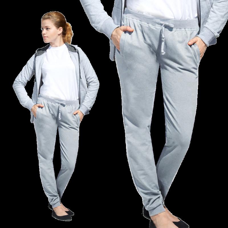 Женские спортивные брюки, StanJumpWomen, 62W, Серый меланж (50), XXL/52