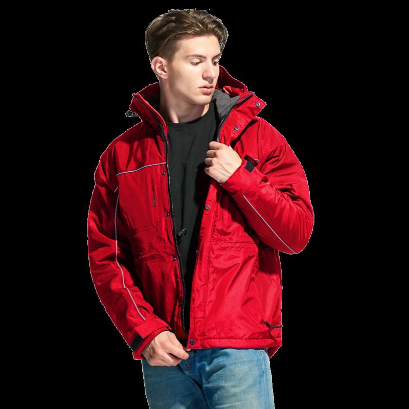 Утепленная куртка на молнии, StanNordic, 31N, Красный (14), M/48