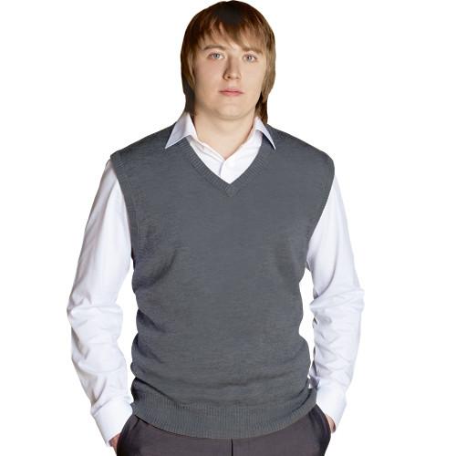 Классический мужской жилет, StanOffice, 27, Светло-серый (72), L/50