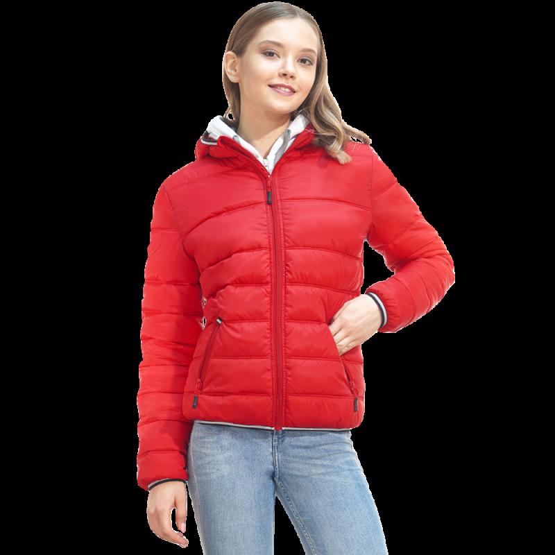 Женская куртка с капюшоном, StanAirWomen, 81W, Красный (14), M/46