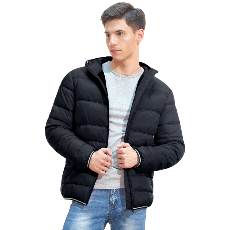 Мужская куртка с капюшоном, StanAir, 81, Чёрный (20), S/46
