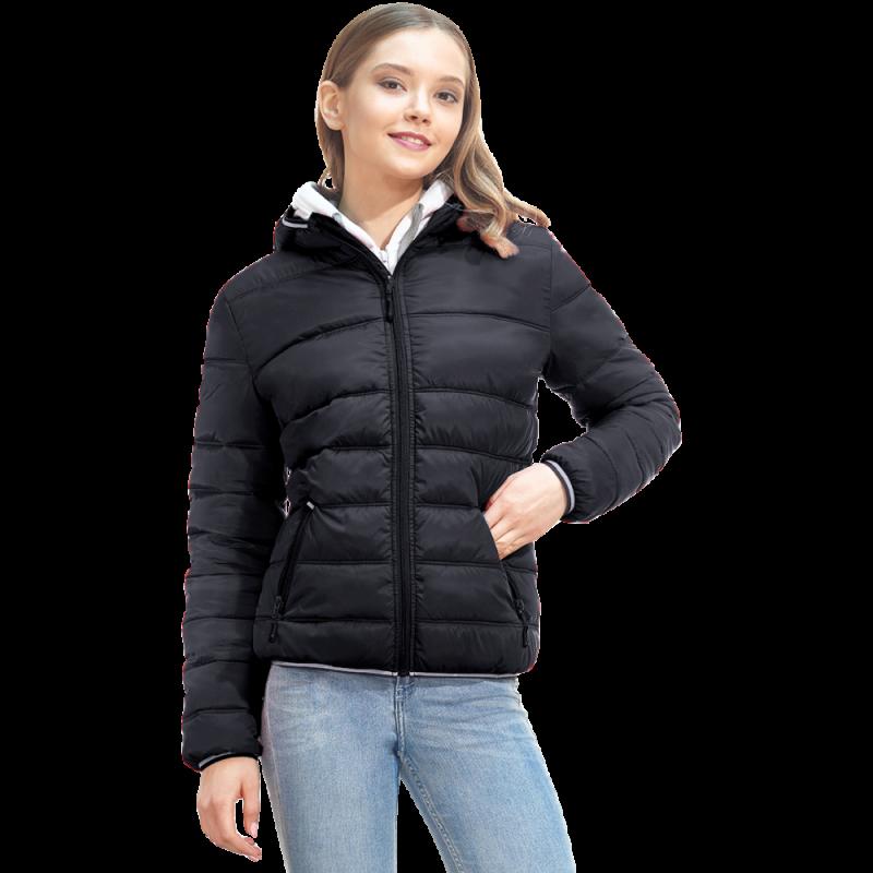 Женская куртка с капюшоном, StanAirWomen, 81W, Чёрный (20), S/44