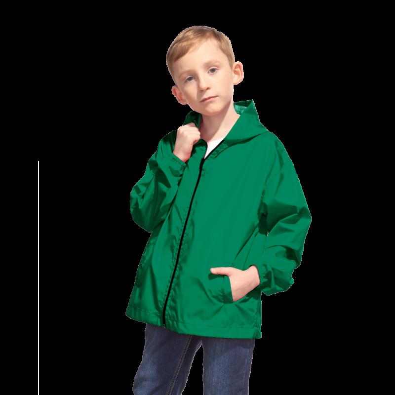 Детская промоветровка, StanRainJunior, 59J, Тёмно-зелёный (130), 10 лет