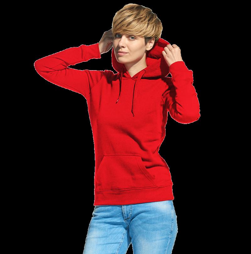 Женская толстовка «кенгуру» с капюшоном, StanFreedomWomen, 20W, Красный (14), XS/42