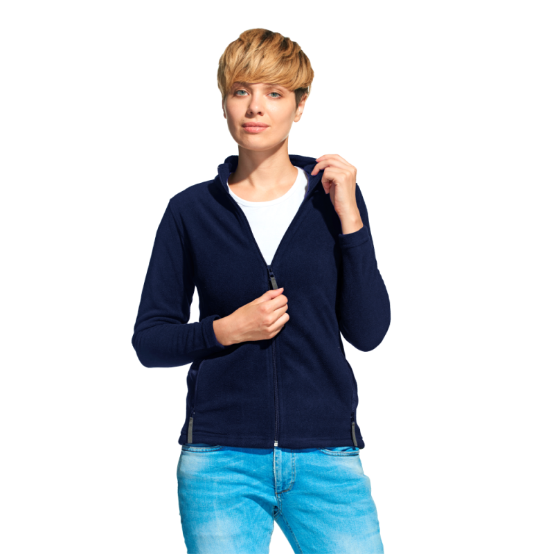 Женская флисовая толстовка, StanSoftWomen, 21W, Тёмно-синий (46), XS/42