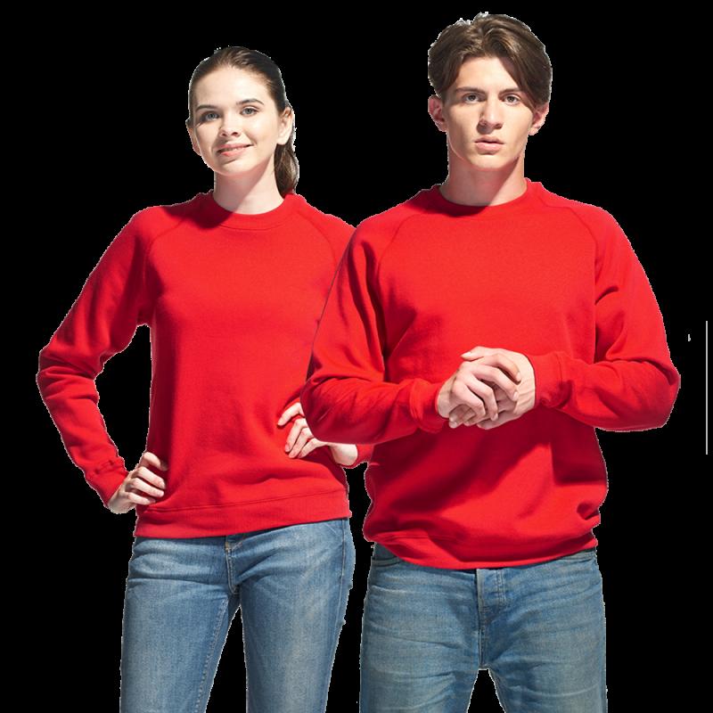 Свитшот унисекс, StanSweatshirt, 53, Красный (14), XXS/42