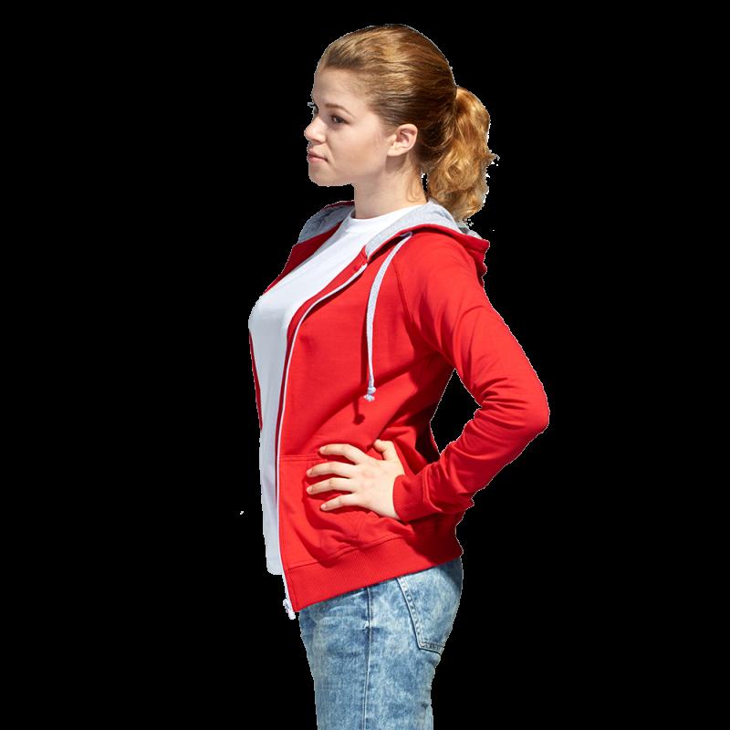 Легкая женская толстовка с капюшоном, StanCoolWomen, 61W, Красный (14), S/44