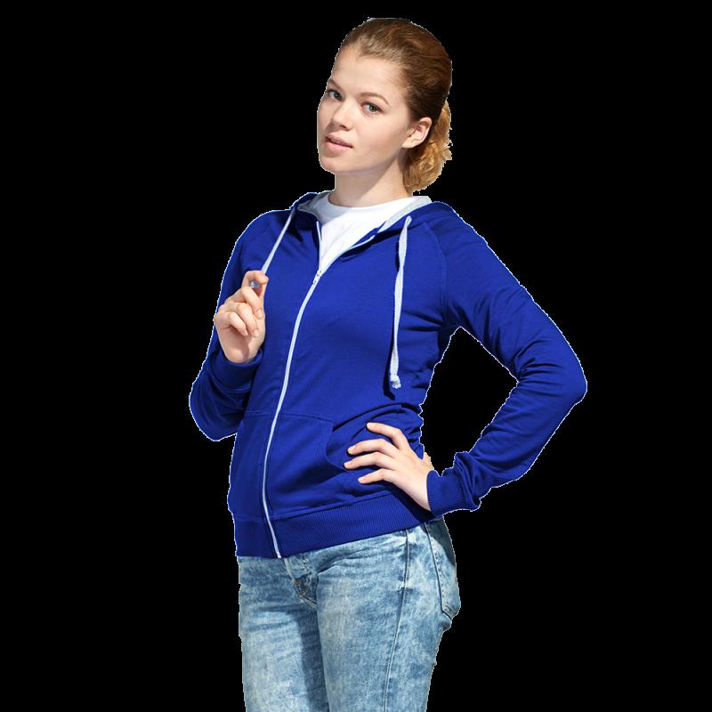 Легкая женская толстовка с капюшоном, StanCoolWomen, 61W, Синий (16), L/48