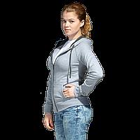 Легкая женская толстовка с капюшоном, StanCoolWomen, 61W, Серый меланж (50), XL/50