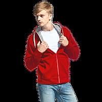 Мужская двухцветная толстовка с капюшоном, StanWinner, 18, Красный (14), XXL/54
