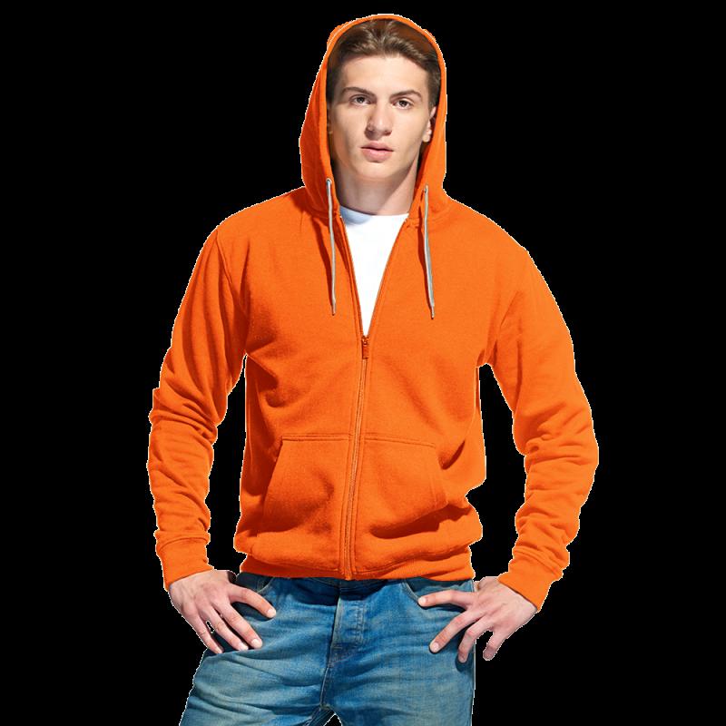 Мужская толстовка, StanStyle, 17, Оранжевый-Серый меланж (28/50), XS/44