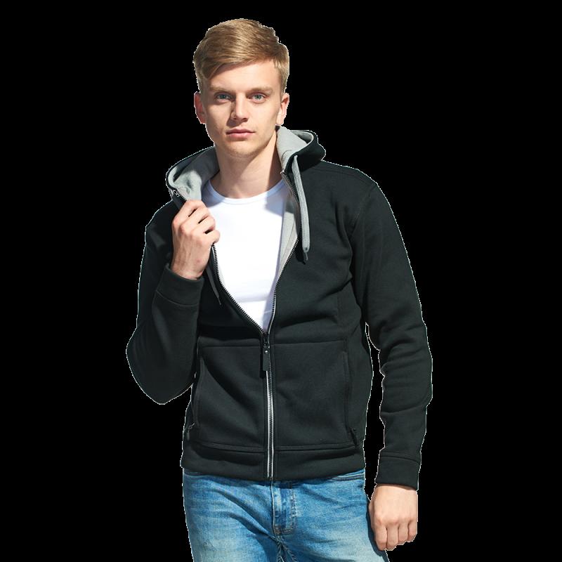 Мужская двухцветная толстовка с капюшоном, StanWinner, 18, Чёрный (20), M/48