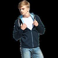 Мужская двухцветная толстовка с капюшоном, StanWinner, 18, Тёмно-синий (46), L/50, фото 1