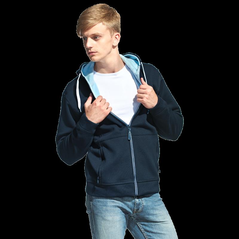 Мужская двухцветная толстовка с капюшоном, StanWinner, 18, Тёмно-синий (46), S/46