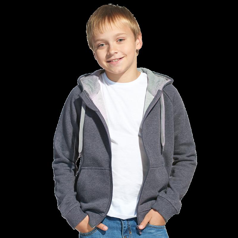 Детская толстовка, StanStyleJunior, 17J, Тёмный меланж-Серый меланж (60/50), 8 лет