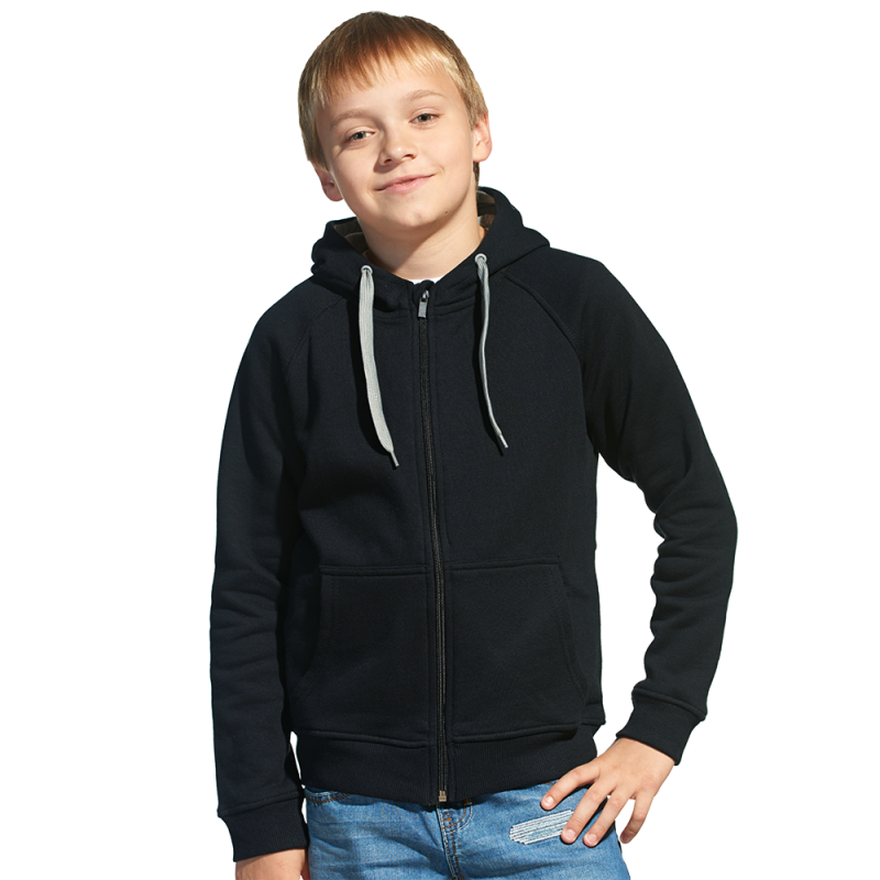 Детская толстовка, StanStyleJunior, 17J, Чёрный-Серый меланж (20/50), 6 лет
