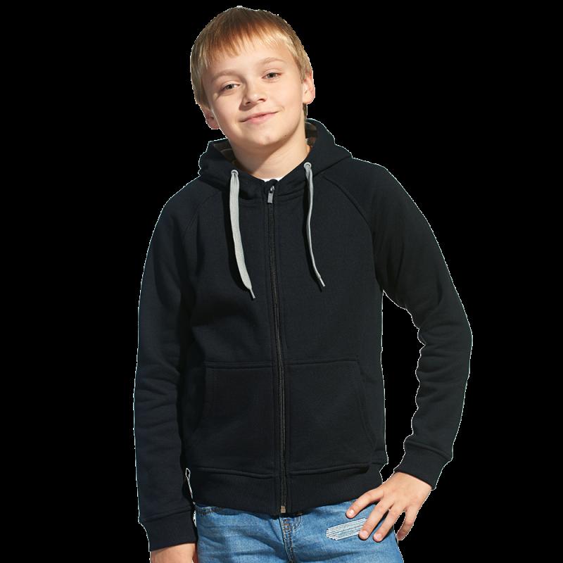 Детская толстовка, StanStyleJunior, 17J, Чёрный-Серый меланж (20/50), 8 лет