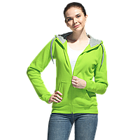 Толстовка женская , StanStyleWomen, 17W, Ярко-зелёный-Серый меланж (26/50), L/48, фото 1